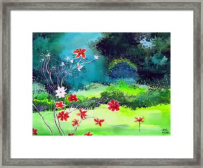 Garden Magic Framed Print by Anil Nene