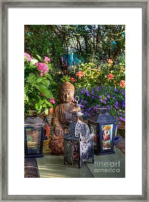 Garden Meditation Framed Print