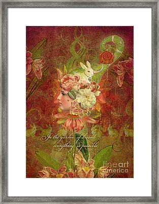Garden Of Dreams Framed Print by Aimee Stewart