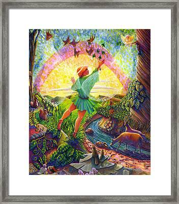 Garden Of Eden Angel Framed Print by Jacquelin Vanderwood