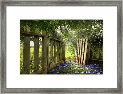 Garden Of Eden Framed Print by Debra and Dave Vanderlaan