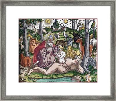 Garden Of Eden Historiae Animalium Framed Print by Science Source