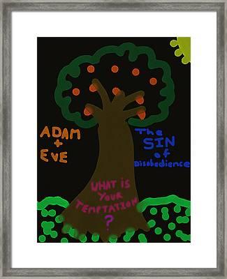 Garden Of Evil Framed Print by Michael Jordan