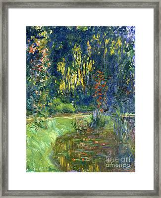 Garden Of Giverny Framed Print by Claude Monet