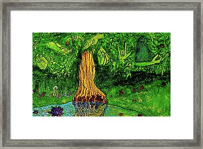 Framed Print featuring the painting Garden Of Intent Eden For Pandemonium by D Renee Wilson