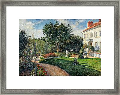 Garden Of Les Mathurins At Pontoise Framed Print