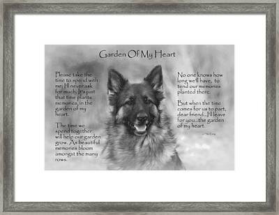 Garden Of My Heart Framed Print by Sue Long