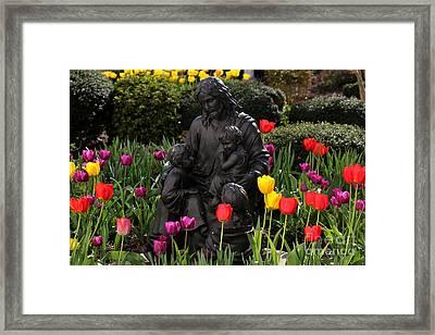 Framed Print featuring the photograph Garden Of Peace by Everett Houser