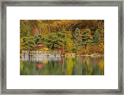 Garden Of Reflection Framed Print by Sebastian Musial