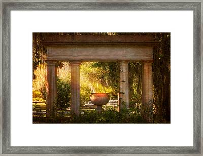 Garden Of Resurrection Framed Print by Mark Andrew Thomas