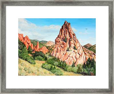 Kindergarten Rock - Garden Of The Gods Framed Print