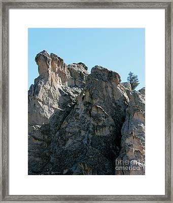 Garden Of The Gods Boulders Framed Print