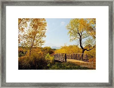 Garden Of The Gods Bridge Framed Print