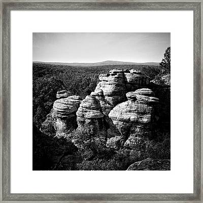 Garden Of The Gods Framed Print by Jeff Burton