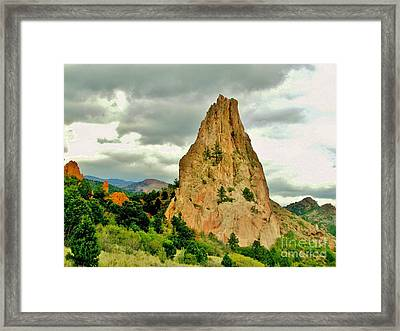 Garden Of The Gods Framed Print by Marilyn Smith