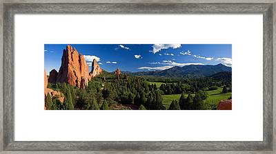 Garden Of The Gods Panorama At It's Best Framed Print