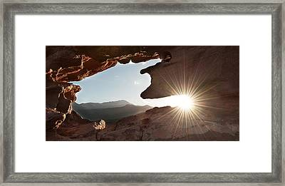 Garden Of The Gods Sun Framed Print
