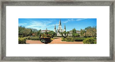 Garden Of The St. Louis Cathedral Framed Print by Panoramic Images