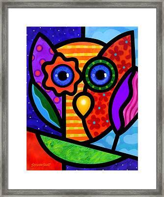 Garden Owl Framed Print