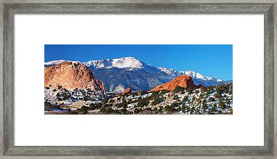 Garden Pano Framed Print by Darren  White