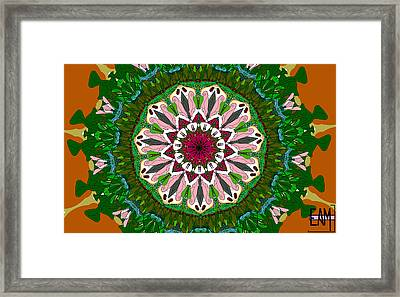 Framed Print featuring the digital art Garden Party #2 by Elizabeth McTaggart