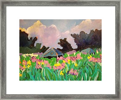 Garden Party 2 Framed Print by Rodger Ellingson