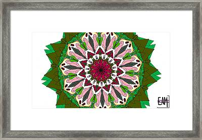 Framed Print featuring the digital art Garden Party by Elizabeth McTaggart
