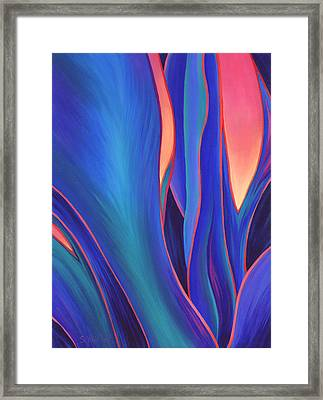 Framed Print featuring the painting Garden Party by Sandi Whetzel