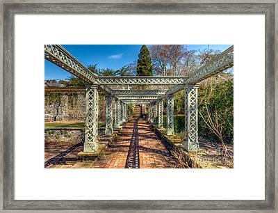 Garden Path Framed Print by Adrian Evans