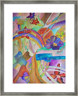 Framed Print featuring the painting Garden Path by Judy Via-Wolff