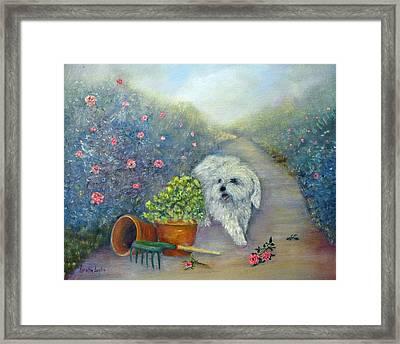 Garden Path Framed Print by Loretta Luglio