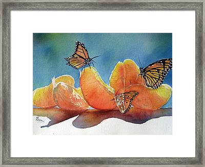 Garden Picnic Framed Print by Patricia Pushaw