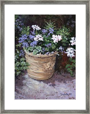 Garden Planter Framed Print by Richard De Wolfe