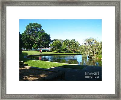 Framed Print featuring the photograph Sydney Botanical Garden Lake by Leanne Seymour