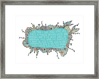 Garden Quote Framed Print