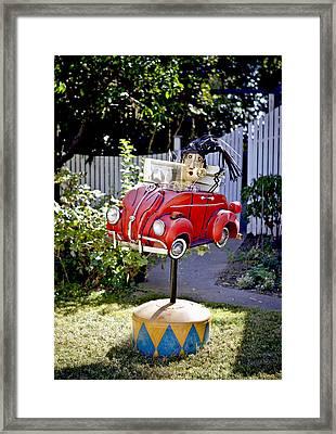 Garden Rag Top Art Framed Print by Her Arts Desire