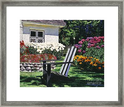 Garden Resting Place Framed Print by David Lloyd Glover