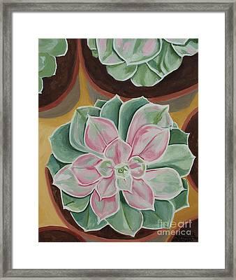 Garden Rossette Framed Print