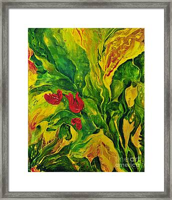 Garden Series No.2 Framed Print by Teresa Wegrzyn