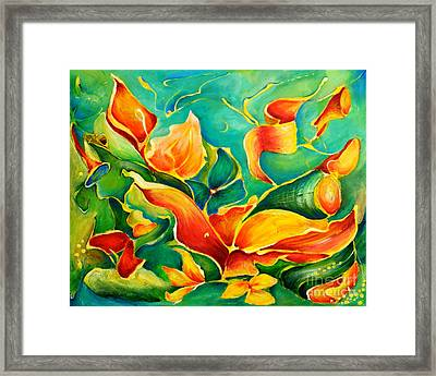 Garden Series No.3 Framed Print by Teresa Wegrzyn