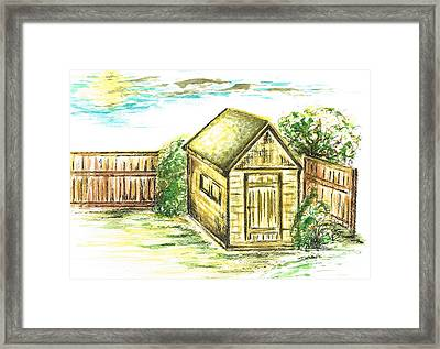 Garden Shed Framed Print by Teresa White