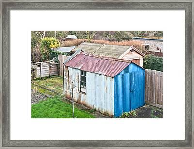 Garden Shed Framed Print by Tom Gowanlock