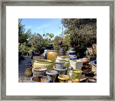 Garden Shoppe 2 At Windmill Farms Framed Print by Barbara Snyder