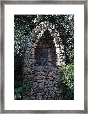 Garden Shrine - 13th Station Of The Cross Framed Print