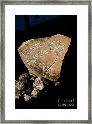 Garden Signs Framed Print by The Stone Age