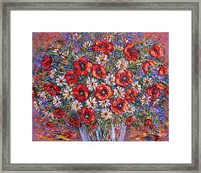 Garden Splendor Framed Print by Natalie Holland