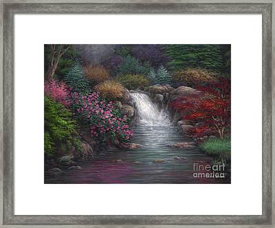 Garden Spring Framed Print by Chuck Pinson