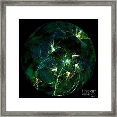 Garden Sprites Come At Night Framed Print
