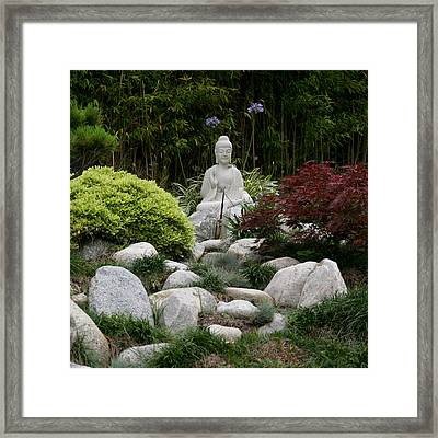 Garden Statue Framed Print by Art Block Collections
