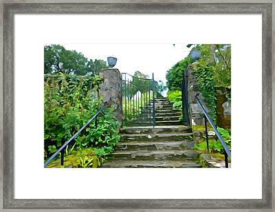 Garden Steps Framed Print by Charlie and Norma Brock